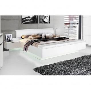 STPL183-C87 Starlet 180 x 200 Weiß Hochglanz Bett Doppelbett Ehebett & Nachtk...