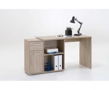 360-001 Albrecht EICHE SÄGERAU Schreibtisch Bürotisch Büro Winkelkombination - Vorschau 4