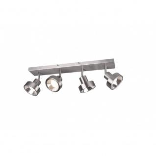 800700407 Strahler Leuchte Lampe Leon Nickel matt 4xGU10 Höhe ca. 19.3 cm