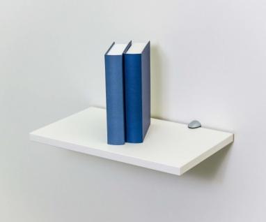 EVA Weiss ca. 40 x 1, 9 x 24 cm Hängeregal Wandregal Wandboard Bücherregal