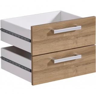 3012-010 CALVIA 10 Alteiche Schubkasteneinsatz Schubladen Satz klein für Büro...