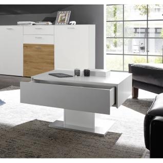 0755_CT-01-70x70 ARIZONA Weiß matt Lack Couchtisch Tisch Beistelltisch 70 x 7...