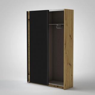 Schrank Schiebetüren Schwebetüren Kleiderschrank ca. 125 x 196 x 38 cm FAST A... - Vorschau 2