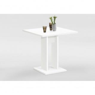 Tisch Esszimmertisch Küchentisch Beistelltisch ca. 70 x 70 cm BANDOL Weiß FMD