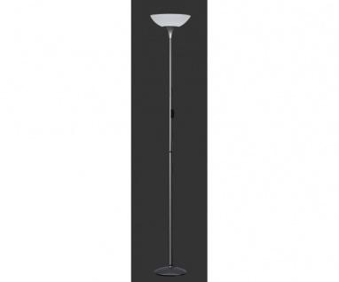 R4302-87 Deckenfluter, Stehleuchte, Leseleuchte Metall grau lackiert Schirm w...