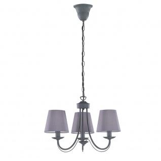 Kronleuchter Deckenleuchte Deckenlampe Cortez betonfarbig grau 3x E14, 110600378