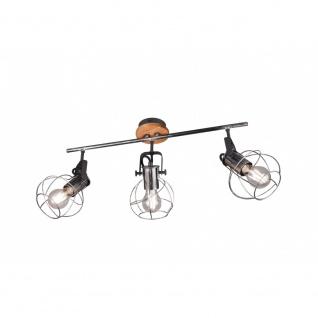 805300388 Strahler Leuchte Lampe Madras silberfarbig antik 3xE27 Höhe ca. 28 cm