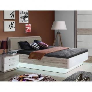 RDNL242-T30 Rondino 140 x 200 Sandeiche Nb. / weiß Bett Jugendbett Gästebett ...