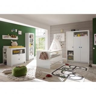 87-530-17 PAULA weiß 3tlg. Babyzimmer Kinderzimmer inkl. Wickelkommode, Bett ...