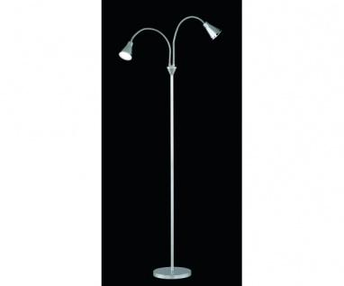 R42712187 LED Stehleuchte Standleuchte silberfarbig grau ca. 155 cm hoch 2 x ...