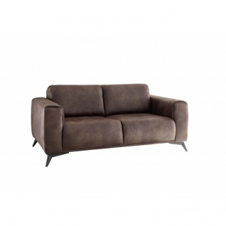 PUEBLO 2-Sitzer Vintage Braun Sitzsofa Schlafsofa Lounge ca. 167 cm