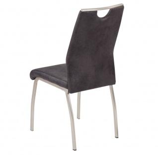2er SET R5188-03 Trieste anthrazit / schwarz Esszimmerstuhl Küchenstuhl Stuhl... - Vorschau 2