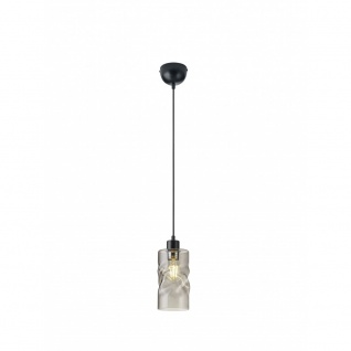 R30531054 Pendelleuchte Swirl schwarz matt, rauchfarbig 1x E27 W Höhe ca. 150...