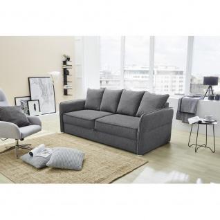 LENNY 414/09 Grau Schlafsofa Bettfunktion Jugendsofa Couch 3 Sitzer Sitzsofa ...