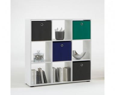 248-005 Mega 5 Weiss Raumteiler Bücherregal Büroregal Regal