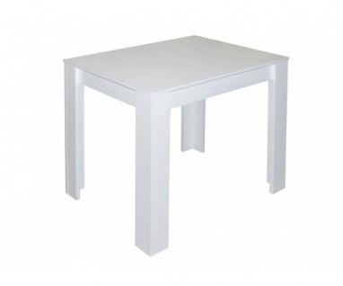 0566 / 80 x 60 cm PIT weiß matt Esszimmertisch Küchentisch Esstisch