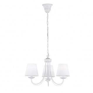 Kronleuchter Deckenleuchte Deckenlampe Cortez weiß matt weiß matt 3x E14, 110...