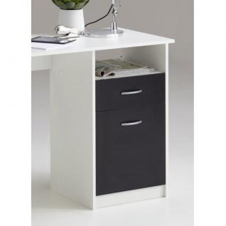 3004-001 Jackson weiss / schwarz Schreibtisch Arbeitstisch Bürotisch Kindersc... - Vorschau 2