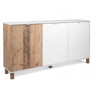 Kommode Sideboard Stauraumschrank ca. 160 x 86 x 35 cm 003025 MENORCA Weiß / ...