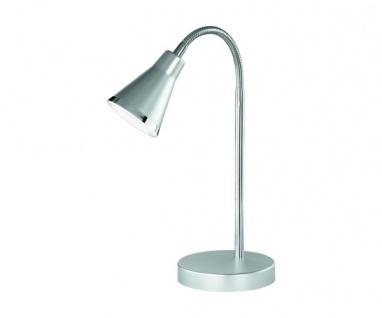 R52711187 silberfarbig, graue Tischleuchte Nachttischleuchte ARRAS 5 Watt SMD...