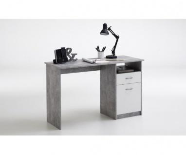 3004-001 Jackson Light Atelier Beton grau / weiß Schreibtisch Arbeitstisch Bü...