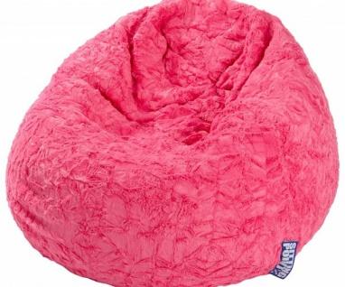 28260 Sitzsack L Pink Fluffy Sitzhocker Plüschsitzsack Magma Sitting Point
