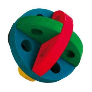 Trixie Spiel- und Snackball aus Holz - 7, 5 cm