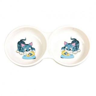 Trixie Keramik-Doppelnapf für Katzen