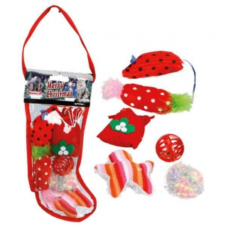 Karlie Flamingo Xmas Weihnachtsgeschenk-Set Socke für Katzen
