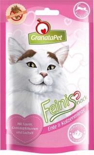 GranataPet Feinis Katzensnack Ente & Katzenminze 50g