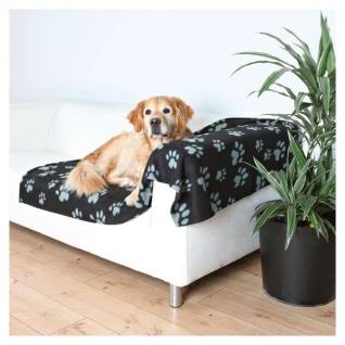 Trixie Fleecedecke Barney - 150x100cm, schwarz-grau