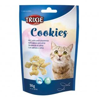 Trixie Cookies mit Lachs und Katzenminze - 50g