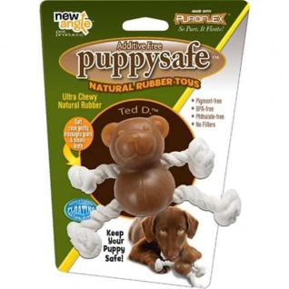 New Angle PuppySafe Ted D. aus 100% natürlichem Kautschuk
