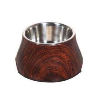 DOGIT 2-in-1 Napf Holzdekor - 380 ml