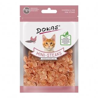 Dokas Cat Snack Ministeak Huhn & Kabeljau 25g