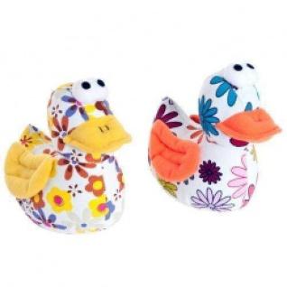 Karlie Canvas-Spielzeug Ente geblümt - 17 cm