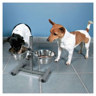 Trixie Hundebar mit Edelstahlnäpfen - 2 x 1, 8 l