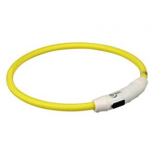 Trixie Flash Leuchtring USB Gelb