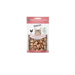 Dokas Cat Snack Hühnerherzen gefriergetrocknet 15g