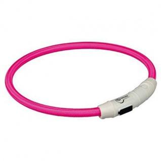 Trixie Flash Leuchtring USB Pink