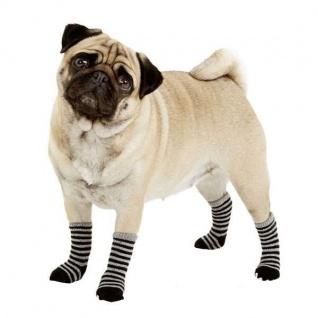 Karlie Doggy Socks Hundesocken 4er Set - Schwarz/Grau