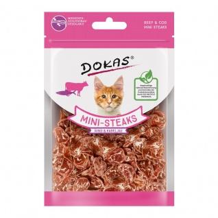 Dokas Cat Snack Ministeak Rind & Kabeljau 25g