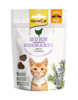 GimCat Crunchy Snacks Hühnchen mit Rosmarin 50 g