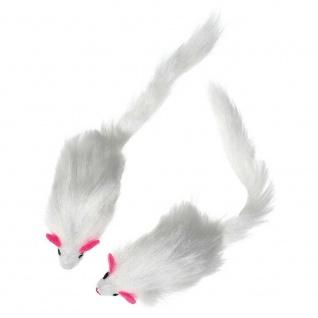 Karlie Flamingo Plüschmäuse mit Rassel - 2 Stück