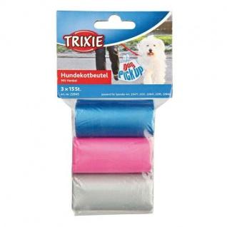 Trixie Hundekot-Beutel mit Henkel - 3 x 15 Stück