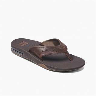Reef Leather Fanning Guys Sandals