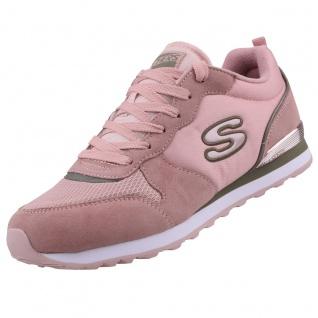 Skechers Damen Sneakers OG 85 STEP N FLY Rosa/Khaki