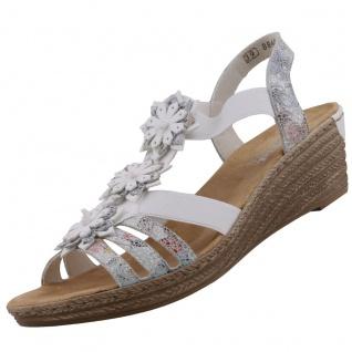 Rieker Damen Keil-Sandaletten Weiß