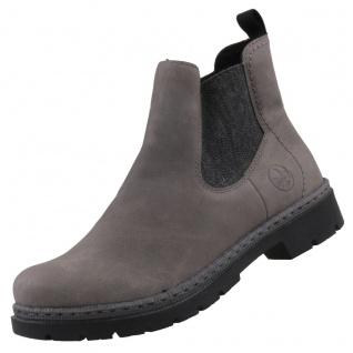 Rieker Damen Chelsea Boots gefüttert Grau