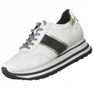 TAMARIS Damen Plateau Sneaker Weiß/Schwarz